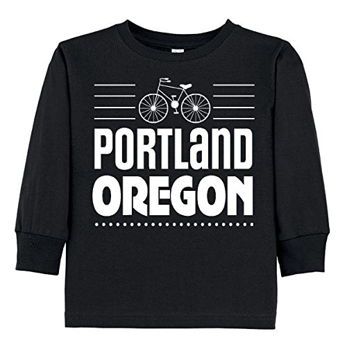 Oregon State Cycling Jersey (inktastic Portland Oregon Biking Toddler Long Sleeve T-Shirt 2T Black 30c9f)