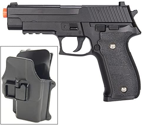 Galaxy G26H Airsoft Metal 226 Spring Pistol with Quick Release Holster 280 FPS