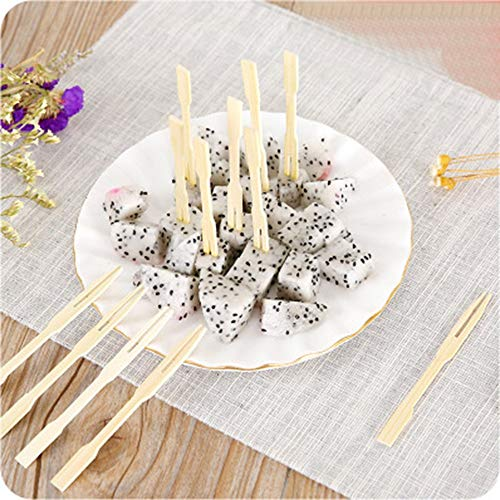 (Elevin(TM)  80PCS Disposable Bamboo Catering Forks Fruit Stick Finger Food)