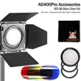 GODOX BD-08 Flash Accessories Kit for Godox AD400Pro Outdoor Flash (Honey Comb,Four-Wing Reflector and Four Color Filters) Godox AD400 Accessories (BD-08)