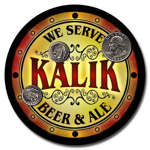 - Kalik Family Golden Beer & Ale Rubber Drink Coasters