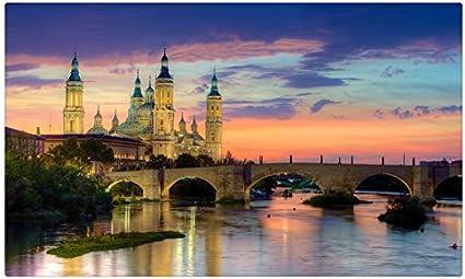 España puentes ríos amaneceres y Atardeceres Zaragoza Ciudades sitios de viajes postal Post tarjeta: Amazon.es: Oficina y papelería