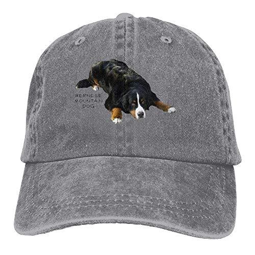 Bernese Mountain Dog Rug Pose Sweat Adult Cotton Washed Denim Leisure Caps Adjustable Natural