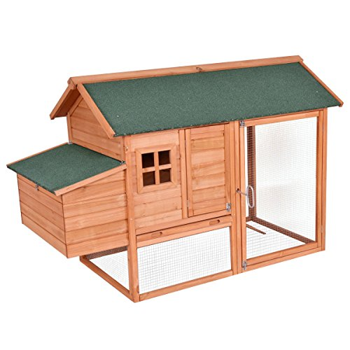 """Tangkula Chicken Coop 67"""" Rabbit Hutch Wooden Garden Backyard Bunny Hen House Pet Supplies Large Cages from Tangkula"""