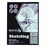 Reeves 9-Inch by 12-Inch Sketching Paper Pad, 75 sheets/Pack