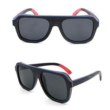 CWYPB Gafas de Sol de bambú para Hombre y Mujer, Exterior ...
