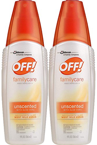 Off! FamilyCare Insect Repellent IV Unscented, 2 ct, 9 fl oz