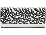 COACH Bleecker Soft Wallet in Exotic Leather; Silver Black White; 51483
