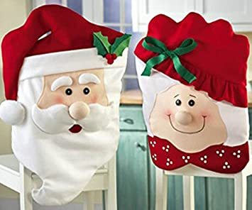 Viskey Christmas Santa Toilet Seat Cover And Rug Bathroom Set