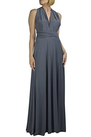 Ivon L.A. Infinity/Convertible Dress Plus Sizes XL-3X (XL, Gray) at ...