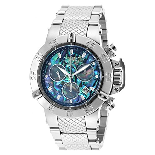 Invicta 50mm Subaqua Noma III Swiss Quartz Chronograph Abalone Dial Bracelet Watch (90141)