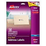 Avery Easy Peel Mailing Labels for Ink Jet Printers, 1 x 2-5/8 Inches, Clear, Pack of 300 (18660)