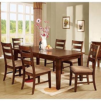 Priscilla Mission Style Antique Oak Finish 7 Piece Dinette Set
