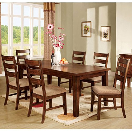 Priscilla Mission Style Antique Oak Finish 7-Piece Dinette Set