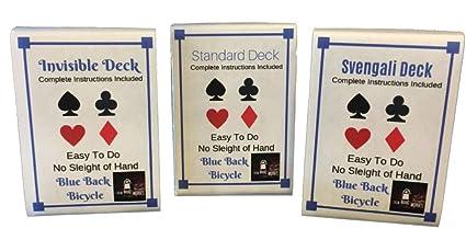 f31b3fa0a06 Amazon.com: London Magic Works 3 Deck Combo- Blue Back Invisible ...