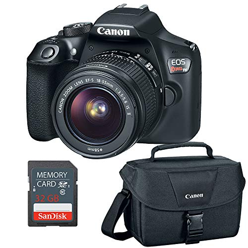 Canon EOS Rebel T6 DSLR Camera w/EF-S 18-55mm, 32GB SD Card & Camera Bag (Certified Refurbished)