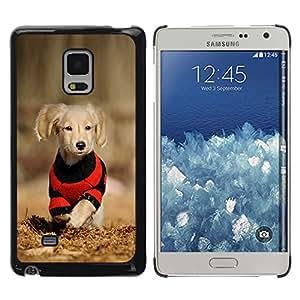 KOKO CASE / Samsung Galaxy Mega 5.8 9150 9152 / cachorro de perro labrador reriever marrón dorado / Delgado Negro Plástico caso cubierta Shell Armor Funda Case Cover