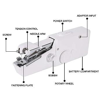 Haofy Overlock N/ähmaschine N/ähmaschine f/ür Anf/änger,Mini N/ähmaschine Geschwindigkeitverstellbar Austauschbarer N/ähfu/ß R/ückw/ärtsn/ähen Funtion Overlock Funtion f/ür kleine N/äharbeiten Stichprogramme