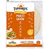 "Tumaro's 8"" CarbWise Wraps - Multigrain - 8 Count - Case of 6"