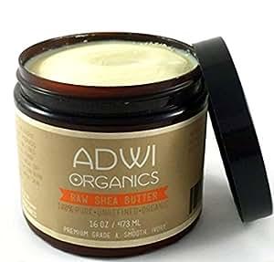 Adwi Organics Organic Raw Shea Butter, 16 oz.