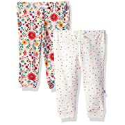 Rosie Pope Baby Newborn 2 Pack Pants (More Options Available), Floral/White, 0-3 Months