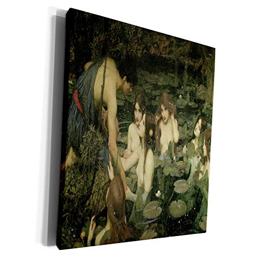 3dRose BLN Victorian Era Fantasy Fine Art Collection - Hylas and the Nymphs by John William Waterhouse - Museum Grade Canvas Wrap (cw_127292_1) (John William Waterhouse Hylas And The Nymphs)