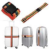 Fabal Backpack Bag Luggage Suitcase Straps Baggage Rainbow Belt Adjustable New (Multicolor)