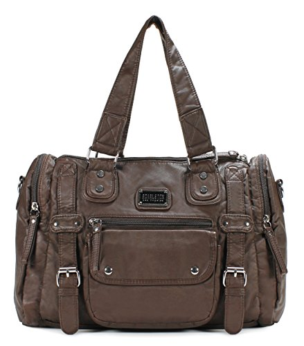 Scarleton Soft Barrel Shoulder Bag H148521 - Coffee by Scarleton