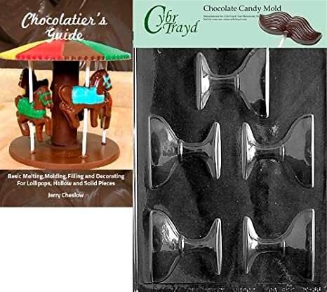 CybrtraydChampagne Glass Wedding Chocolate Candy Mold with Chocolatiers Guide