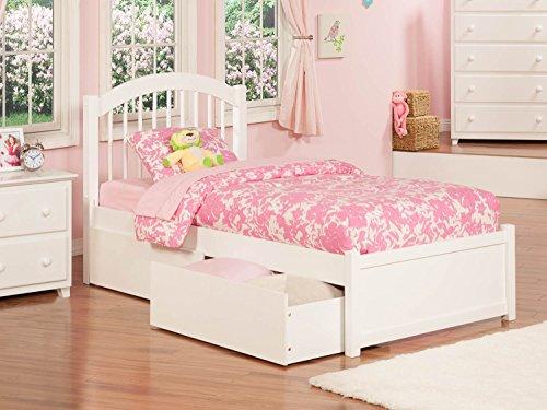 Atlantic Furniture Windsor Twin Platform Bed with Flat Panel
