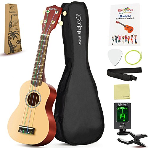 Soprano Rainbow Ukulele Beginner Pack-21 Inch w/ Gig Bag How to Play Songbook Digital Tuner All in One Kit