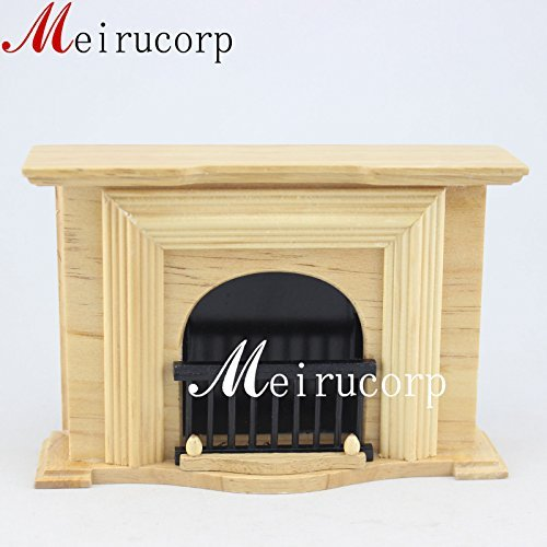Fine 1/12 Scale Dollhouse Miniature Furniture Well Made Fireplace for ()