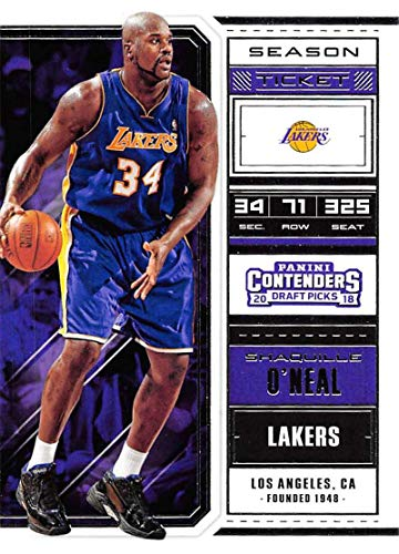 Basketball NBA 2018-19 Panini Contenders Draft Picks Season Ticket #48 Shaquille O'Neal #48 NM+ Lakers