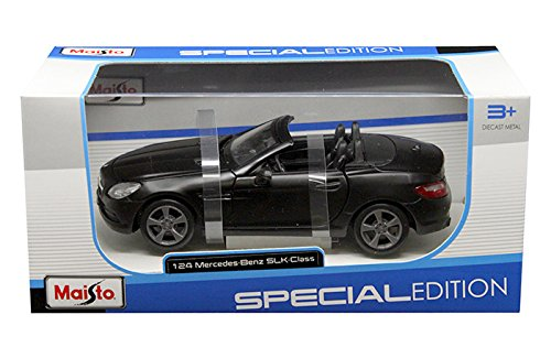 Price comparison product image Maisto New 1:24 W / B Special Edition - Matte Black Mercedes-Benz SLK-Class Diecast Model Car