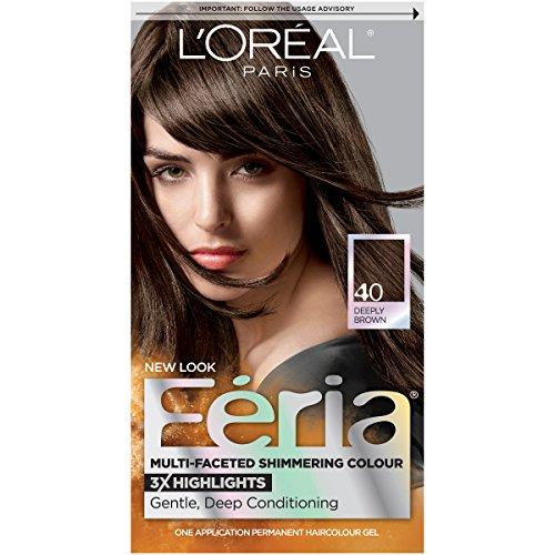 L'Oréal Paris Feria Permanent Hair Color, 40 Espresso (Deeply Brown)