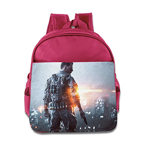 MoMo Unisex Battlefield 4 Poster Children School Bag For Little Kids