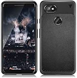 MobiTussion (V Series) Anti Slip Shock Resistant Hi-Out 360 Degree Protection Leather Texture Rugged Armor TPU Case for Google Pixel 2XL (Black)