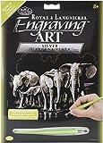 Royal Brush Silver Foil Engraving Art Kit, 8-Inch by 10-Inch, Elephant Herd by ROYAL BRUSH