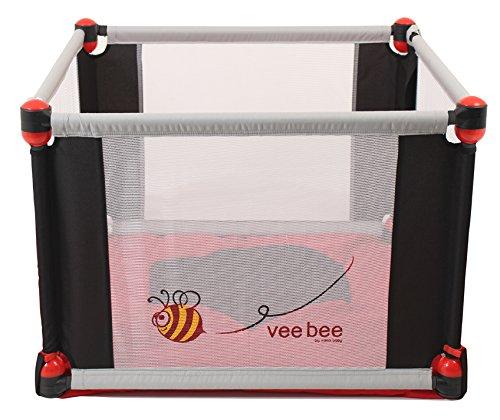 Vee Bee by Valco Baby - 4 Sided Play Yard (Nickel)