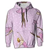 Paskcc Men's Hoodie Classic Tops Shirt Coat Oversized Ballet Dance Girl Athletic