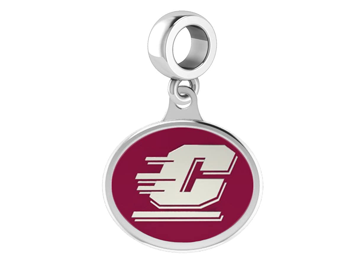 Central Michigan CMU Drop Charm Fits All European Style Beaded Charm Bracelets