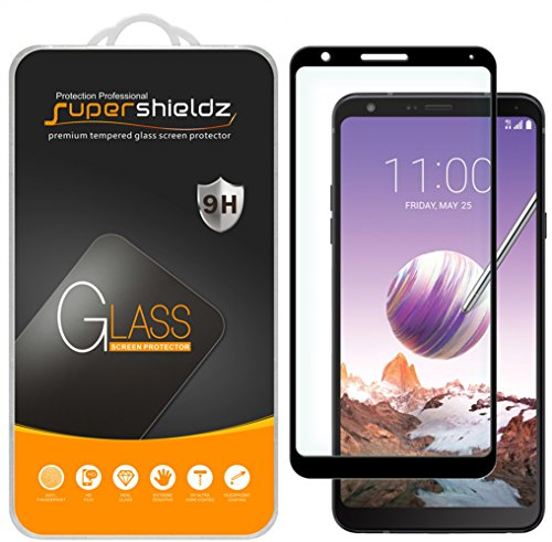 [2-Pack] Supershieldz for LG Stylo 4 Tempered Glass Screen Protector, [Full Screen Coverage] Anti-Scratch, Bubble Free, Lifetime Replacement (Black) from Supershieldz