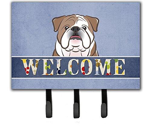 (Caroline's Treasures BB1405TH68 English Bulldog Welcome Leash or Key Holder, Triple,)