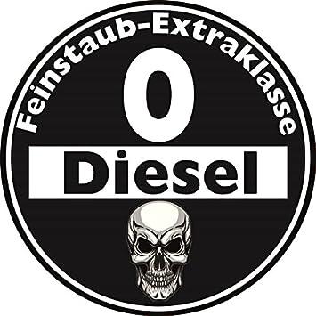 Aufkleber Sticker Feinstaub Umwelt Plakette Diesel Schwarz Jdm