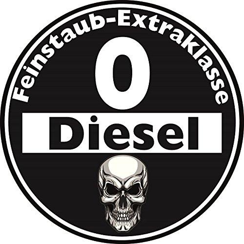 Aufkleber Sticker Feinstaub Umwelt Plakette Diesel Schwarz JDM Tuning Fun Lustig Auto Motorrad LKW fü r auß en 2 Stü ck! Autoaufkleber Fahrverbot Umweltzone sticker-dealer