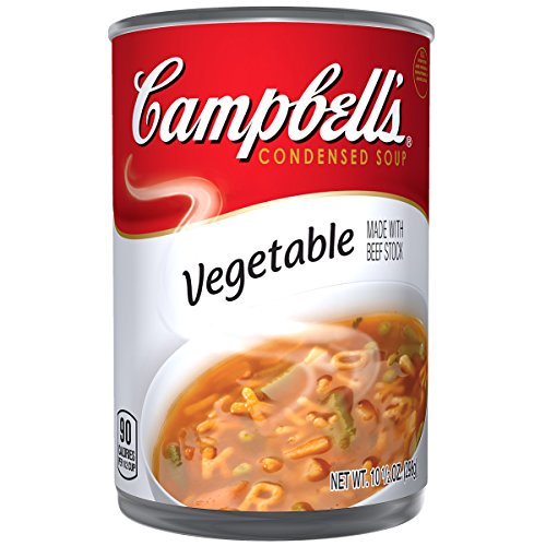 Easy Vegetable Beef Soup - Campbell's Condensed Soup, Vegetable with Beef Stock, 10.5 Ounce (Pack of 12)