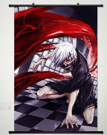 Home Decor Anime Tokyo Ghoul Wall Scroll Poster Fabric Painting Kaneki Ken 174 L
