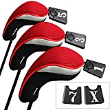 5 woods - Andux Golf Wood Driver Head Covers Interchangeable No. Tag 3 of Set Mt/mg01 Black & Red
