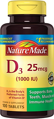 Nature Made Vitamin D 3, 1000IU, 100 Tablets (Pack of 3)
