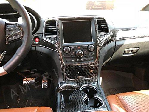 Jeep Grand Cherokee Laredo Limited SRT8 Interior Real Carbon Fiber Dash Trim KIT Set 2014 2015 2016
